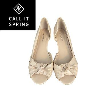 Call It Spring Bow Wedges - Size 8